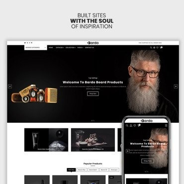Bardo - The Beardo & Fashion Premium. Shopify шаблон. Артикул 98580