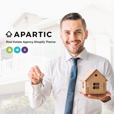 Apartic Real Estate. Shopify шаблон. Артикул 73636